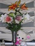 お花キレイでちね♪